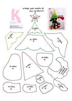1 million+ Stunning Free Images to Use Anywhere Fabric Christmas Decorations, Felt Decorations, Felt Christmas Ornaments, Christmas Crafts, Felt Crafts Patterns, Christmas Templates, Christmas Inspiration, Holiday Crafts, Creations