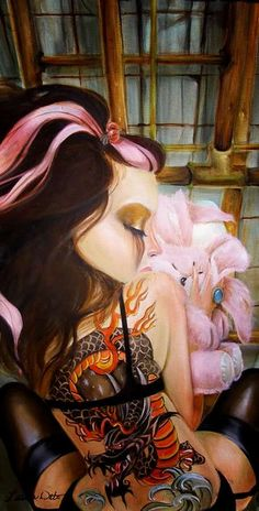 Mesmerizing Pop Surrealism by Leslie Ditto Art Beat, Rembrandt, Pin Up, Tattoo Zeichnungen, Circus Art, Chicano Art, Leonardo, Surreal Art, Geisha