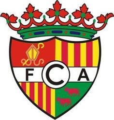 FC ANDORRA (from city-agglomeration Andorra la Vella) - participating in Spanish league system-actually second division of Catalonia - playing in Sant Julià de Lória Andorra, Football Team Logos, Sports Clubs, Crests, Illustrations And Posters, American Football, Porsche Logo, Badge, San
