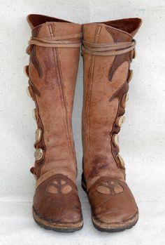 vintage knee high moccasin boots