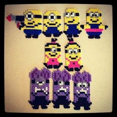 Despicable Me Minions perler beads by shirley117