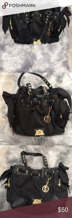 Juicy Couture - Black Nylon Daydreamer purse -NWOT Excellent condition.   Offers are welcomed 😊 Juicy Couture Bags Totes