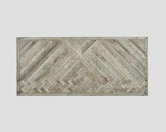 DB004128 by Dialma Brown H. 78 L. 220 P. 100 Tavolo rettangolare in legno vecchio riciclato, base laccata e cerata a pennello color Lavagna, top a spina di pesce specchiata, finitura Ossidata