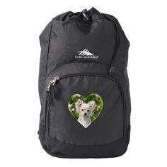 #Cute Chihuahua Dog Puppy Pet Photo Heart  Rucksack Backpack - #chihuahua #puppy #dog #dogs #pet #pets #cute