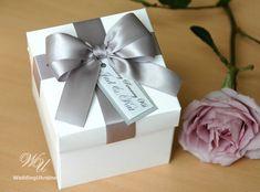 Elegant favor gift box with satin ribbon doubled by WeddingUkraine