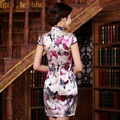Cheongsam white fishtail dress            https://www.ichinesedress.com/