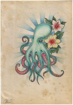 old school style octopus - really like this