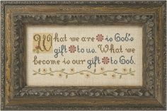 Lizzie Kate Boxer - What We Are counted cross stitch pattern kit
