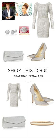 """""""New Year Eve"""" by royal-431 ❤ liked on Polyvore featuring Aidan Mattox, Lauren Conrad, Jimmy Choo and De Beers"""