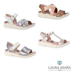 7f7689665a6 Zapatos de mujer primavera-verano 2018 · Confeccionadas en piel natural con  originales acabados metalizados