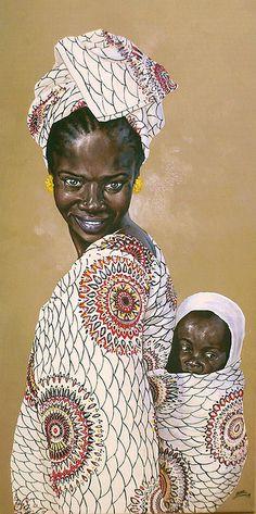 Dessin de Christophe Novel : femme africaine www.novel-graphisme.fr by franchab on Flickr