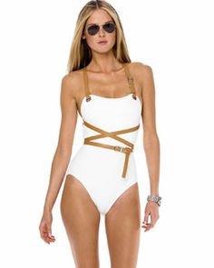 If I decide to cross over to the one piece side, I think I love this! #hot one piece #swimwear