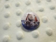 Vintage Porcelain Nautical  Brooch  Beach sailboat by gammiannes, $15.00 Sold