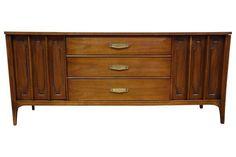 Kent Coffey Marquee Modern Walnut Dresser on Chairish.com