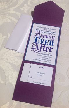 updates by hesawsparks on etsy, $10 00 pinteres Purple Disney Wedding Invitations items similar to wedding invitation fairy tale wedding and a happily ever after invitation in royal purple and regal blue on etsy purple disney wedding invitations