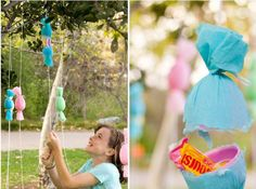 Want to plan an Easter Egg Hunt for the older kids? Create a DIY Egg Popper Tree and hang Easter eggs from above filled with candy, money, and all the sweet treats you can imagine.