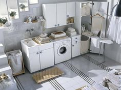 Pictures of Soft White Laundry Rooms