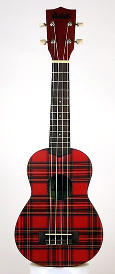 Unexpected #tartan pattern wrapping a Makala Ukadelic Soprano Ukulele by @Kala Brand Music Co. in its red #plaid version - Carefully selected by GORGONIA www.gorgonia.it