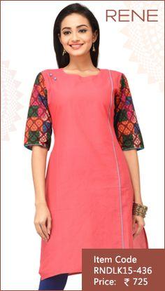 #Pink #Cotton #Kurti #Fashion #Apparels #Clothing #EthnicWear #Style #Women