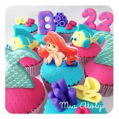 ariel cupcakeleri