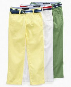 Tommy Hilfiger Kids Pants, Little Boys Chester Slim Fit Pants - Kids Pants & Shorts - Macy's