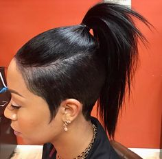 Tapered pony tail