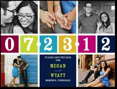 Save the date ideas... this one is a post card and doesnt come as a magnet