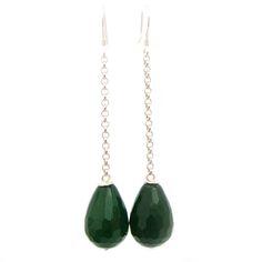 Oorbellen Maxima stijl groene jadeJewels with Flair
