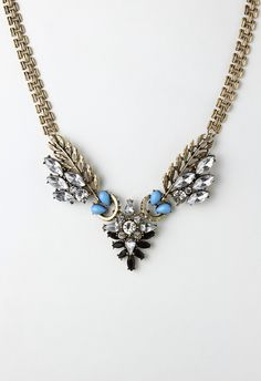 Crystal and Gem Decor Choker Necklace - New Arrivals - Retro, Indie and Unique Fashion