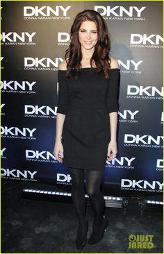 Ashley Greene in a LBD at the DKNY fashion show.
