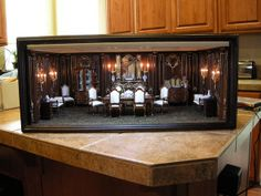 """Custom Room Box for my eBay buddy Cheryl Bottorff,   I wanted to test it out with some of my furniture to see how it looked, Cheryl will re-furnish the room to replicate the """"Millionaire's Suite"""" from the movie the Titanic complete with a nude figure of Rose reclining on a sofa while Jack draws her portrait like one of his """"French Girls"""" can't wait to see what she does with itBy Ken@JBM  Ken Haseltine"""
