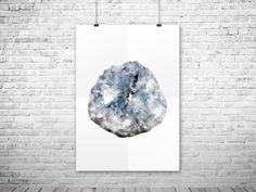 80%OFF CRYSTAL print Geode printable Gemstone print Mineral watercolor Geode print Printable wall art Geode printable Green geode wall art by HappyLittleFrog on Etsy