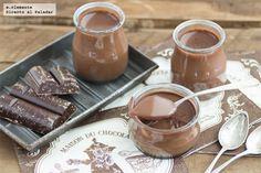 Vasitos de crema de chocolate y moka. Receta