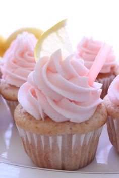 pink lemonade cupcakes 1 c. all-purpose flour 1/2 tsp. baking powder 1/4 tsp. baking soda Pinch salt 1/2 c. granulated sugar 1/4 c. vegetable oil 2 egg whites 1/3 c. thawed frozen Pink Lemonade Concentrate 1/4 c. buttermilk 2 or more drops red food coloring