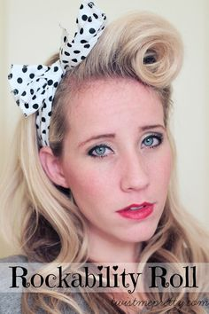Rockability Roll: A Pin-Up Hair Tutorial I always think it would be fun to do victory rolls maybe for Halloween I will de my hair like this