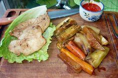 Zapečené kuracie prsia so zeleninou (fotorecept) - obrázok 4 Salmon Burgers, Ethnic Recipes, Food, Salmon Patties, Meal, Essen, Hoods, Meals, Eten