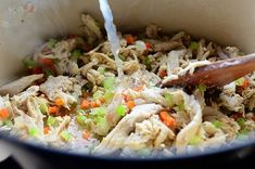 Chicken Pot Pie Recipe Pioneer Woman, 2 Quart Baking Dish, Pasta Casserole, Main Dishes, Chicken Recipes, Cooking Recipes, Stuffed Peppers, Ree Drummond, Ethnic Recipes