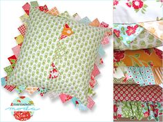 Prairie Points Pillow in Bonnie & Camille's Marmalade | Sew4Home