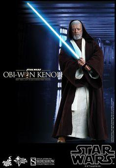 Star Wars Movie Masterpiece Actionfigur 1/6 Obi-Wan Kenobi 30 cm   Aus Hot Toys´ luxuriöser ´Movie Masterpiece´-Reihe erscheint diese tolle Obi-Wan Kenobi - Figur aus dem Film ´Star Wars: Episode IV A New Hope´. Sie ist ca. 30 cm groß und hat zahlreichen Austausch- und Zubehörteile. Schicke Fensterbox mit Schuber.  Star Wars Figuren Specials - Hadesflamme - Merchandise - Onlineshop für alles was das (Fan) Herz begehrt!