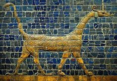 This snake dragon graced Ishtar Gate around the inner city of Babylon, and was associated with the Neo-Babylonian deity Marduk. According to legend, the young and hungry Marduk acquired his pet after volunteering for combat and handily defeating a series of foes.