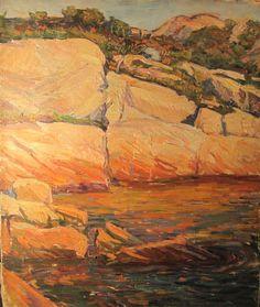 Agnes Richmond Original Oil Painting Landscape American Impressionist LISTED
