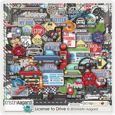 License To Drive digital scrapbooking kit perfect for the photos of your teenager learning to drive.