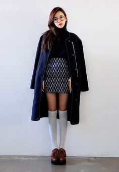 [Stylenanda] Simple Basic Turtleneck Woolen Knit Top
