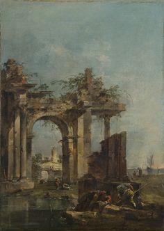 A Caprice with Ruins on the Seashore, 1775-80, Francesco Guardi
