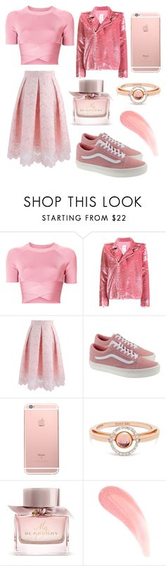 """""""Candy Pink"""" by burovaa-ria ❤ liked on Polyvore featuring T By Alexander Wang, Ashish, Chicwish, Vans, Marie Mas and Burberry"""