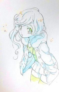 cool Dessins de filles coquines au crayon bleu