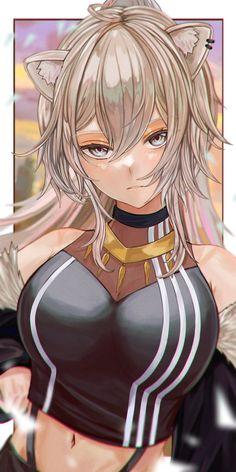 Anime Wolf Girl, Anime Girl Neko, Thicc Anime, Chica Anime Manga, Anime Angel, Anime Comics, Anime Art Girl, Manga Art, Fantasy Characters