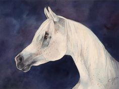 My grandad's painting of his horse who was the national champion of Italy...cooool