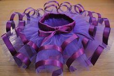 Dark Purple Tutu with Ribbon for Newborns by SnowDancerDesigns, $65.00