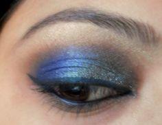 peacock blue colors eye makeup tutorial 12 Peacock Colors Eye Makeup Tutorial